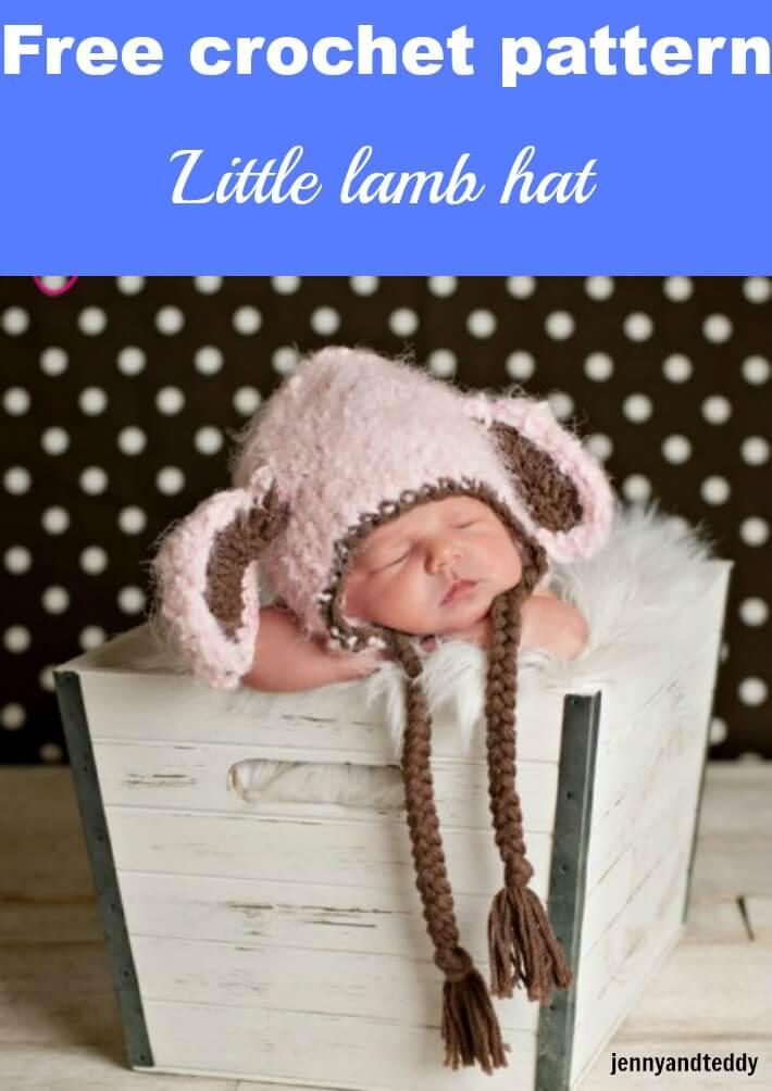 little lamb crochet hat free pattern by jennyandteddy
