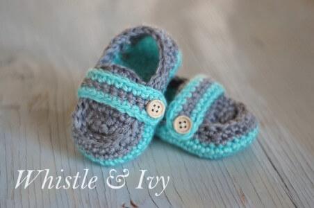 14. crochet baby bootie newborn 3-6 months free pattern