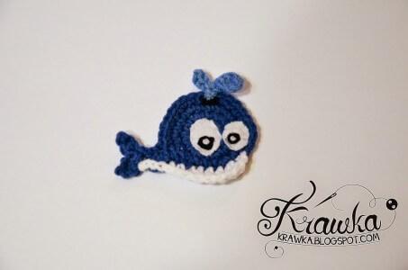 2.whale applique crochet free pattern