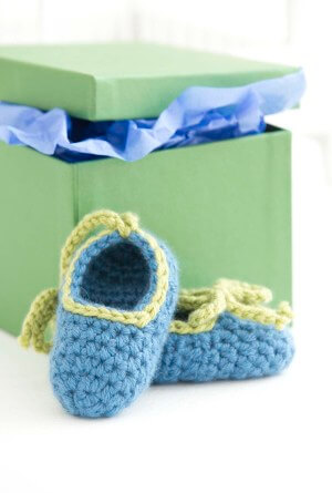 23.simple easy crochet baby booties