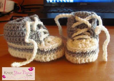 29. crochet converse newborn high tops easy free pattern tutorial 2