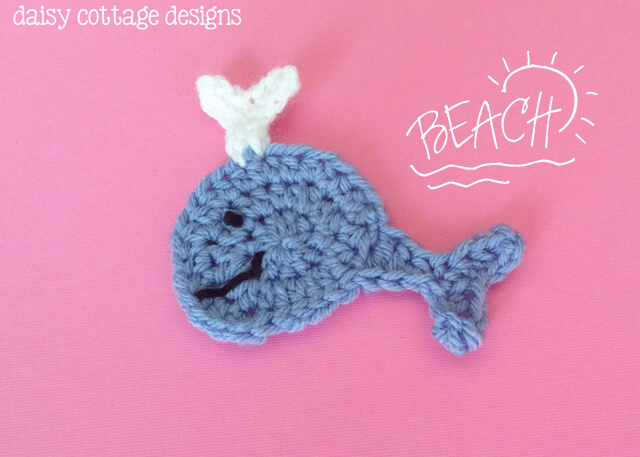 3. whale crochet applique motif