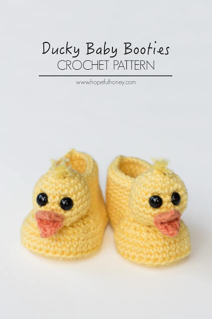 38.Duckling Baby Booties Crochet Pattern 5