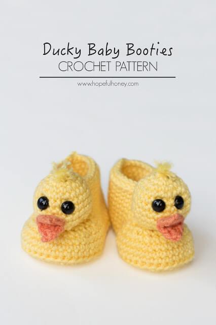 38.Duckling Baby Booties Crochet Pattern 5