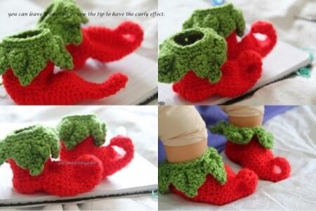 42.crochet elf easy bootie