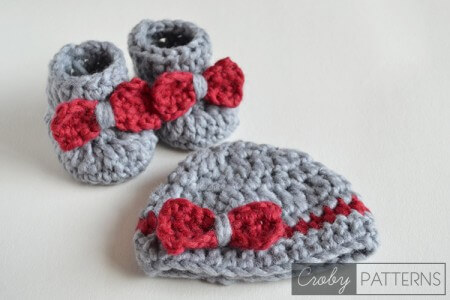 45.easy booties crochet free pattern