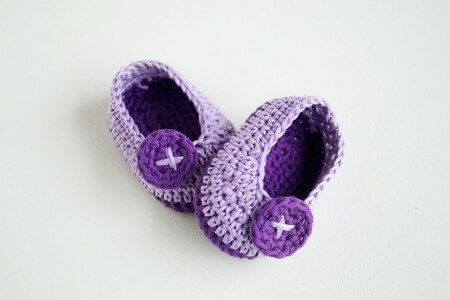6.crochet newborn baby bootie for beginner free pattern