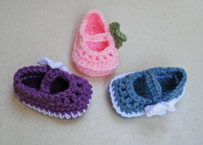 7.crochet baby booties tutorial MaryJaneSkimmerBooties_3