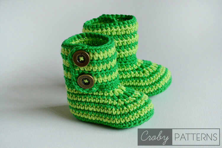 8.how to crochet baby booties step by step free pattern on youtube