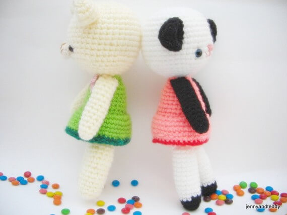 free amigurumi easy pattern panda and bear