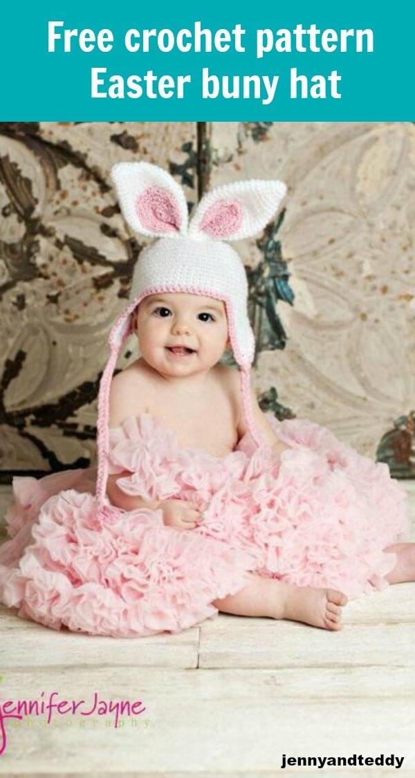 free crochet pattern easter bunny hat by jennyandteddy