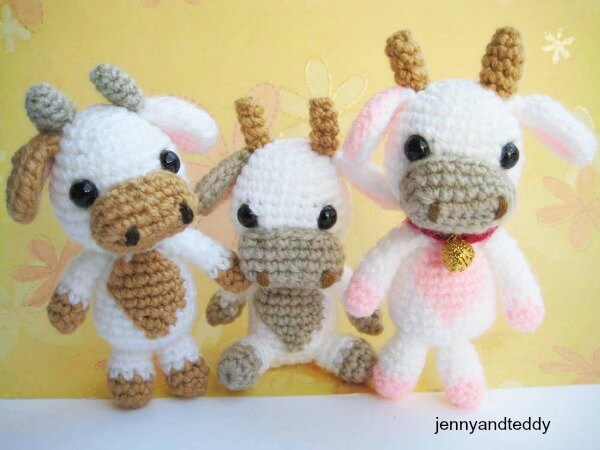Lolly Baby Cow Amigurumi Free Pattern