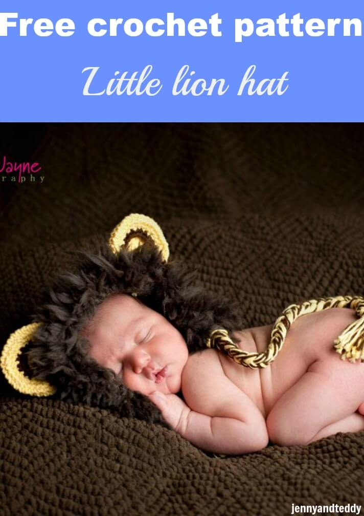 free crochet pattern little lion hat by jennyandteddy
