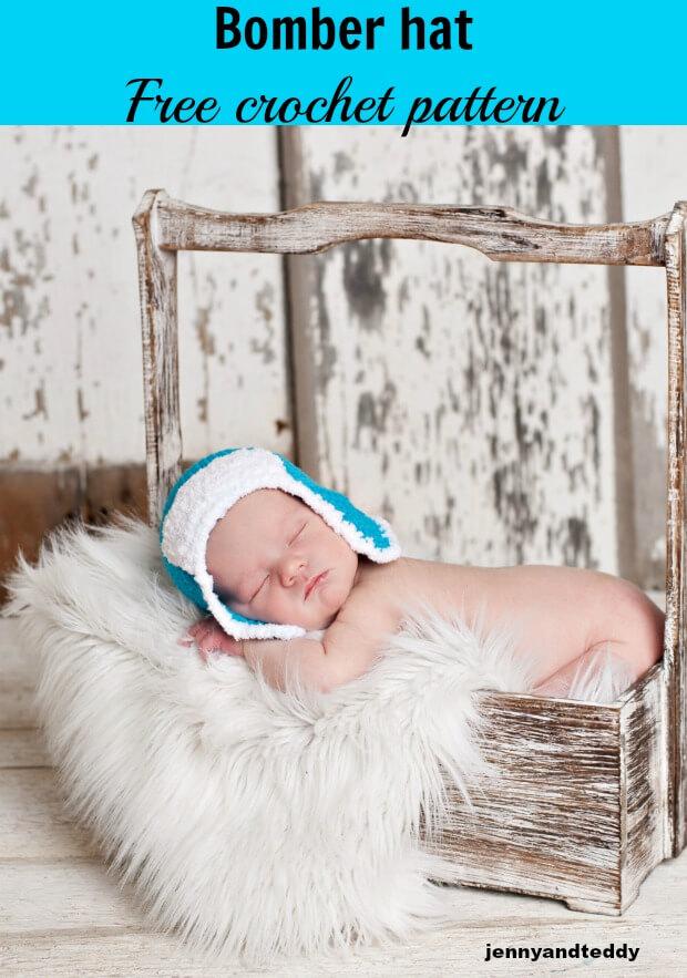 bomber crochet easy baby hat free pattern by jennyandteddy