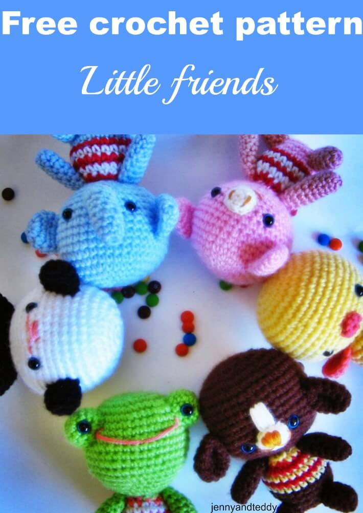 little friends free amigurumi crochet pattern by jennyandteddy
