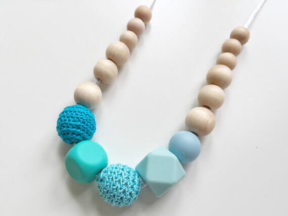 teething handmade nursing necklace