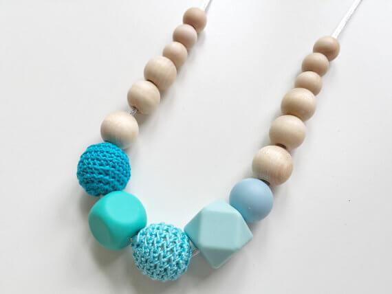teething handmade nursing necklace