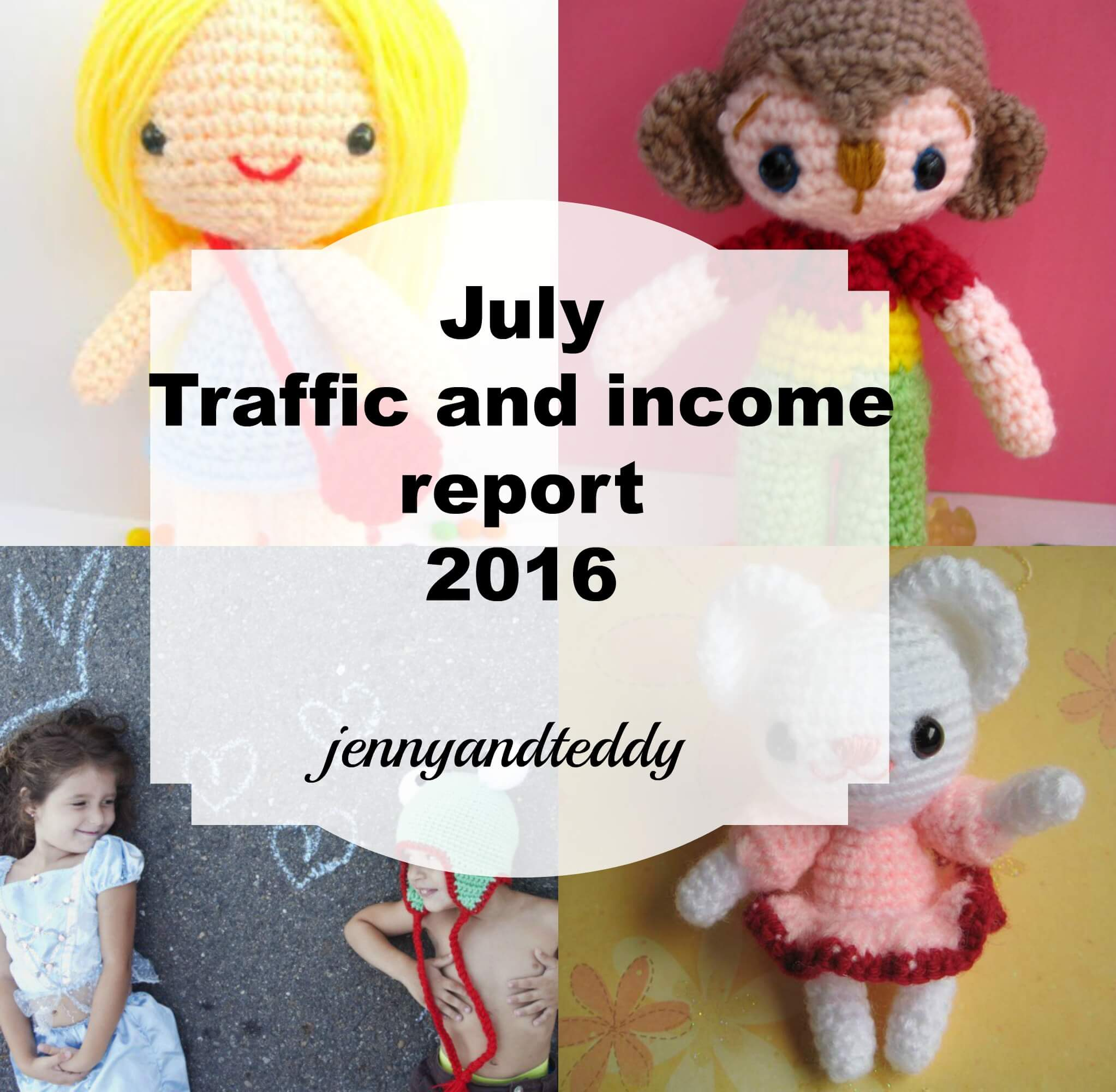 july traffic and income report by jennyandteddy 2016