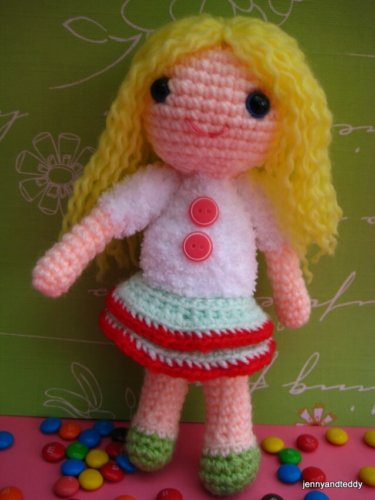 Basic Dress for Baby Bean Doll (Free Crochet Pattern) - Sweet ... | 500x375