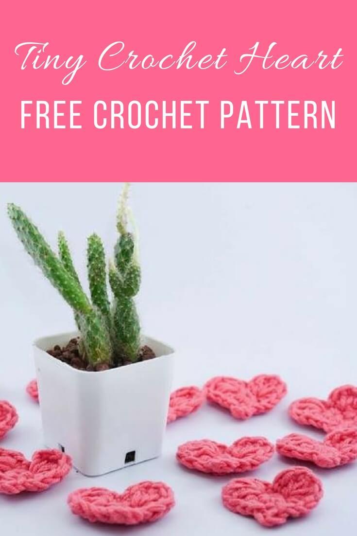 IMAGE 165 - TINY CROCHET HEART FREE CROCHET PATTERN
