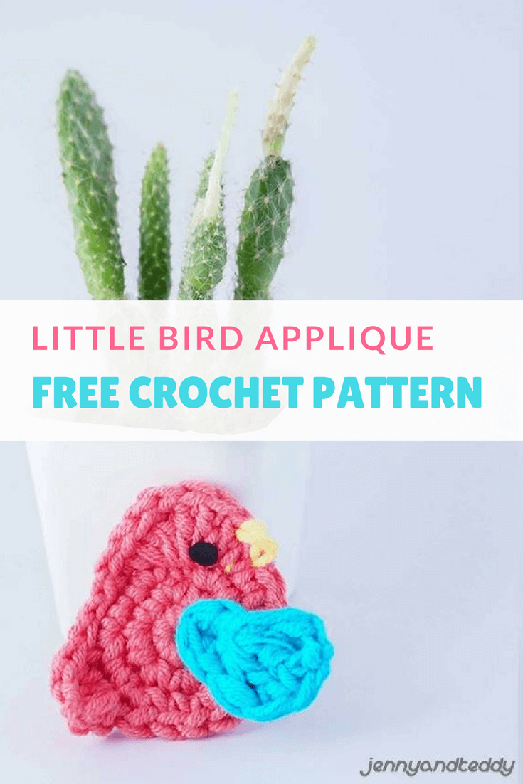 LITTLE BIRD APPLIQUE FREE CROCHET PATTERN