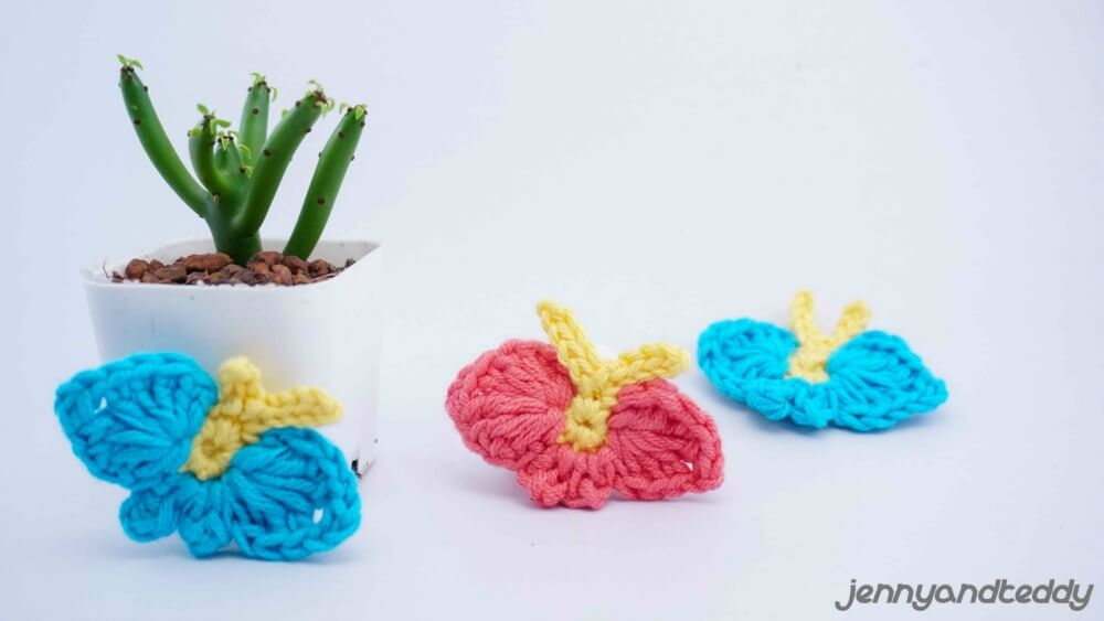 beginner crochet project butterfly applique free crochet pattern