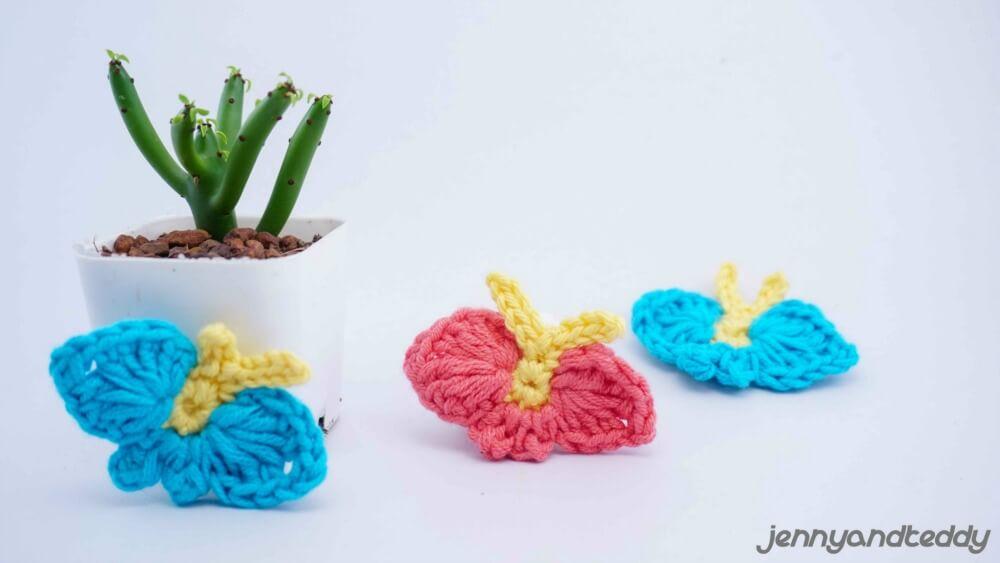 beginner crochet project butterfly applique free crochet pattern