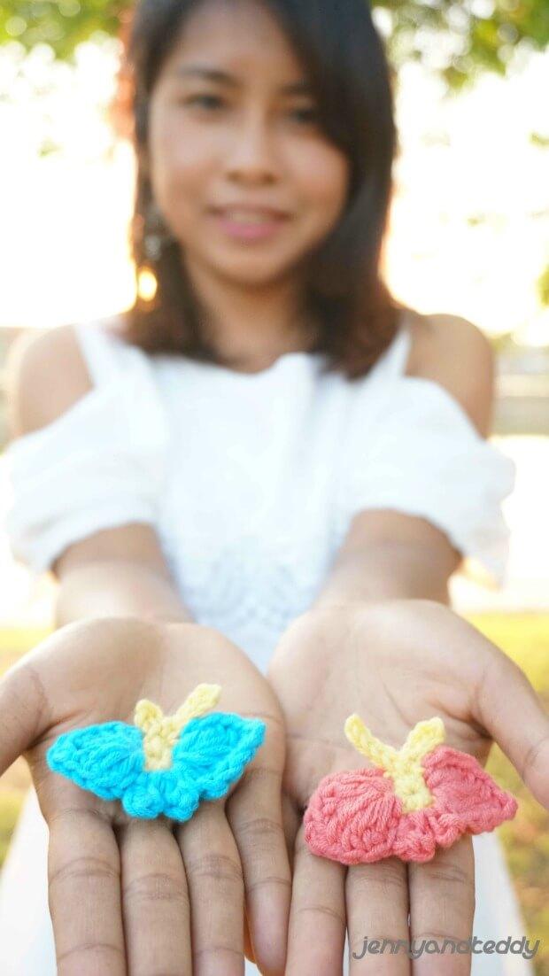 butterfly free crochet pattern for beginner applique