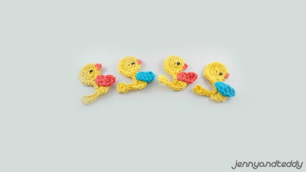 croxchet duck applique free pattern