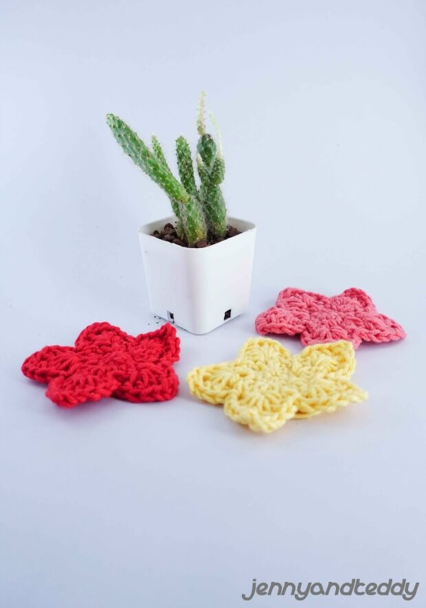 Easy Crochet Star Applique Free Crochet Pattern