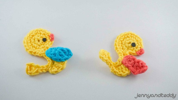easy crochet duck applique free pattern