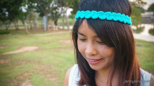 easy free shell stitch headband crochet pattern