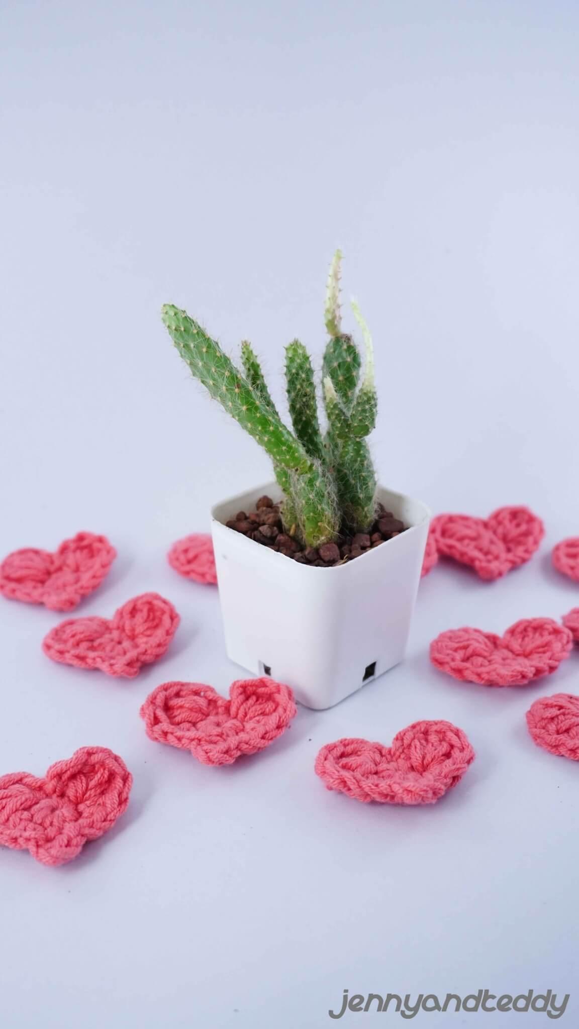 small heart free crochet pattern2