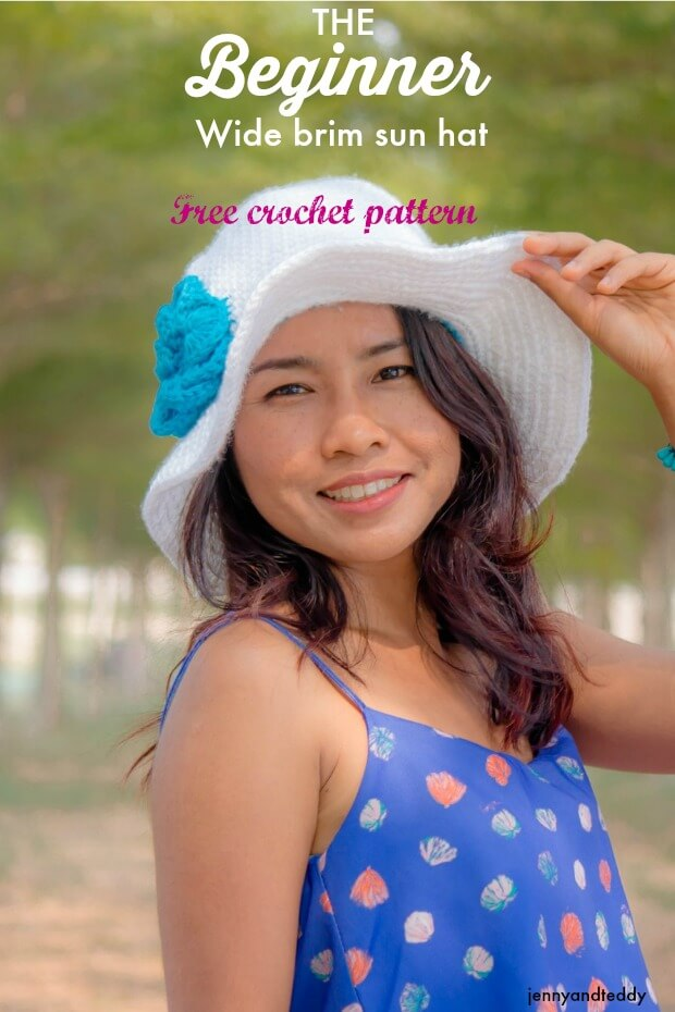The Beginner Wide Brim Sun Hat Free Crochet Pattern