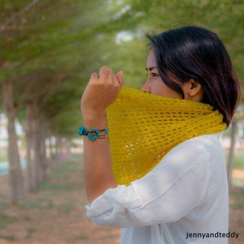 beginner lace crochet scarf free pattern