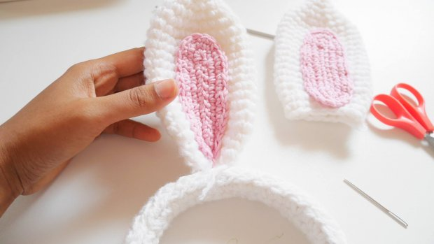bunny ear crochet headband6