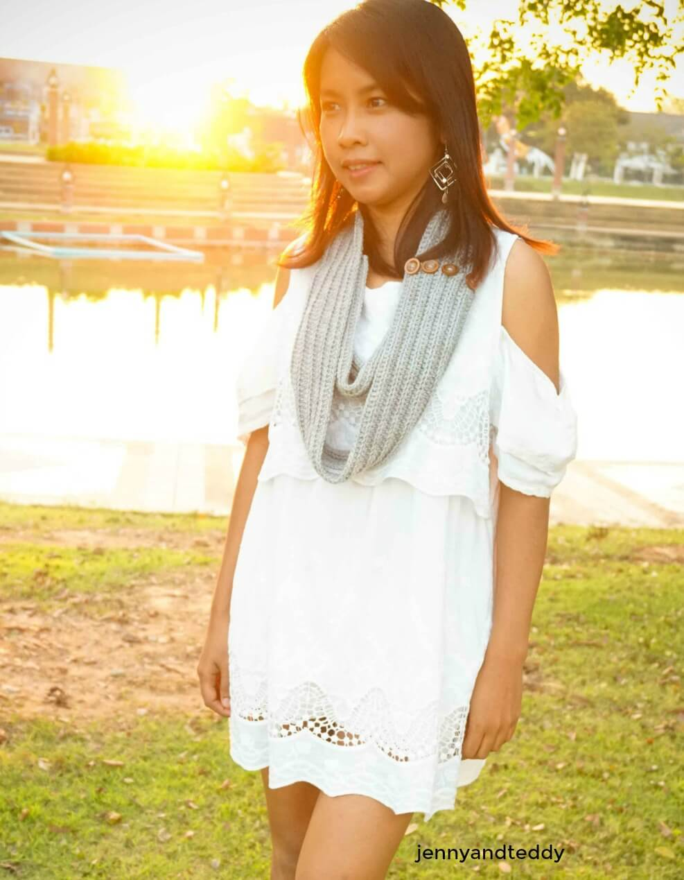 c how to crochet infinity scarf for beginner