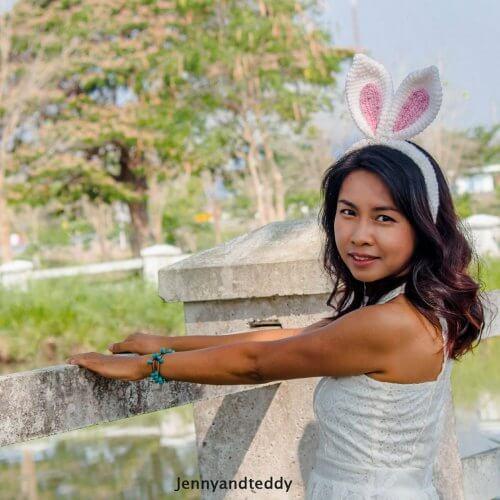 easy bunny ear crochet headband
