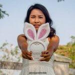 easy crochet easter bunny ear headband free pattern