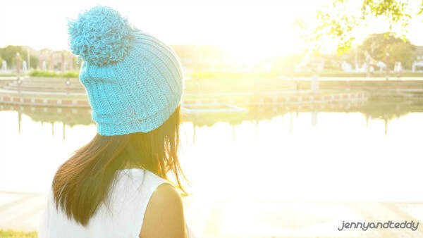 easy ribbed crochet hat free pattern1