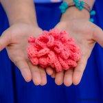 flower face scrub free crochet pattern