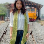 free crochet long double scarf with fringe for beginner by jennyandteddy