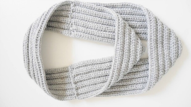 how to make crochet infinity scarf for beginner