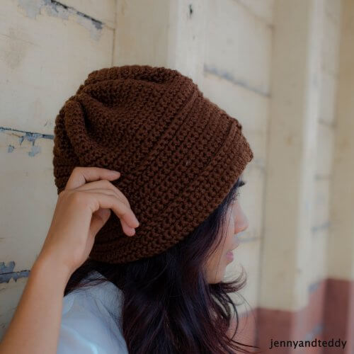 oh boy beanie hat free crochet pattern for men beginner level