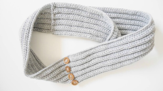 ribbed half double crochet infinity scarf