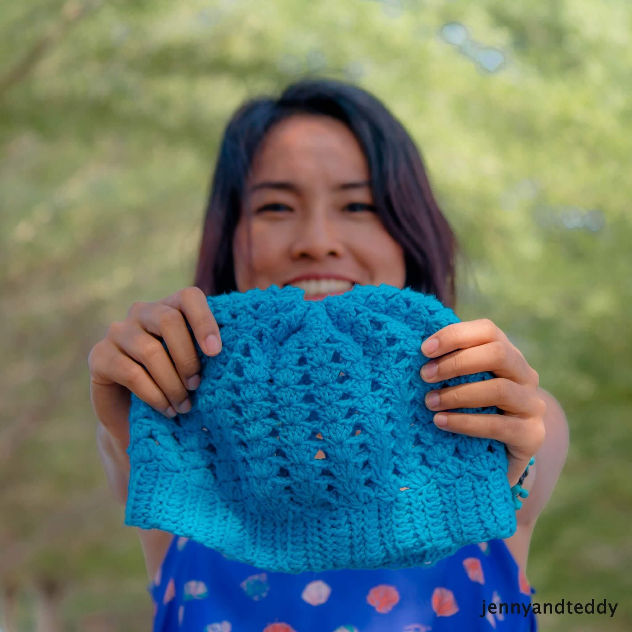 easy slouchy beanie hat shell stitches free crochet pattern