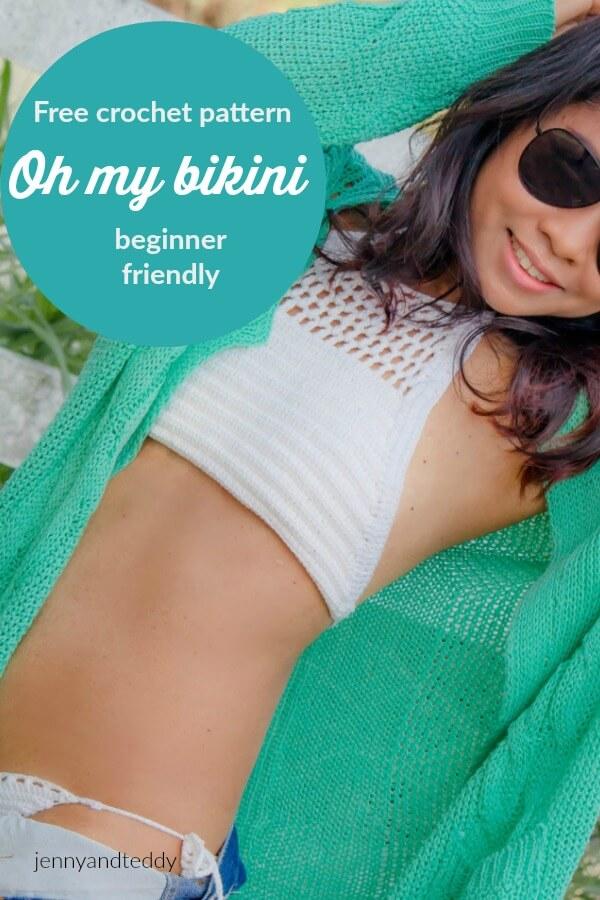 free crochet pattern oh my bikini beginner friendly by jennyandteddy