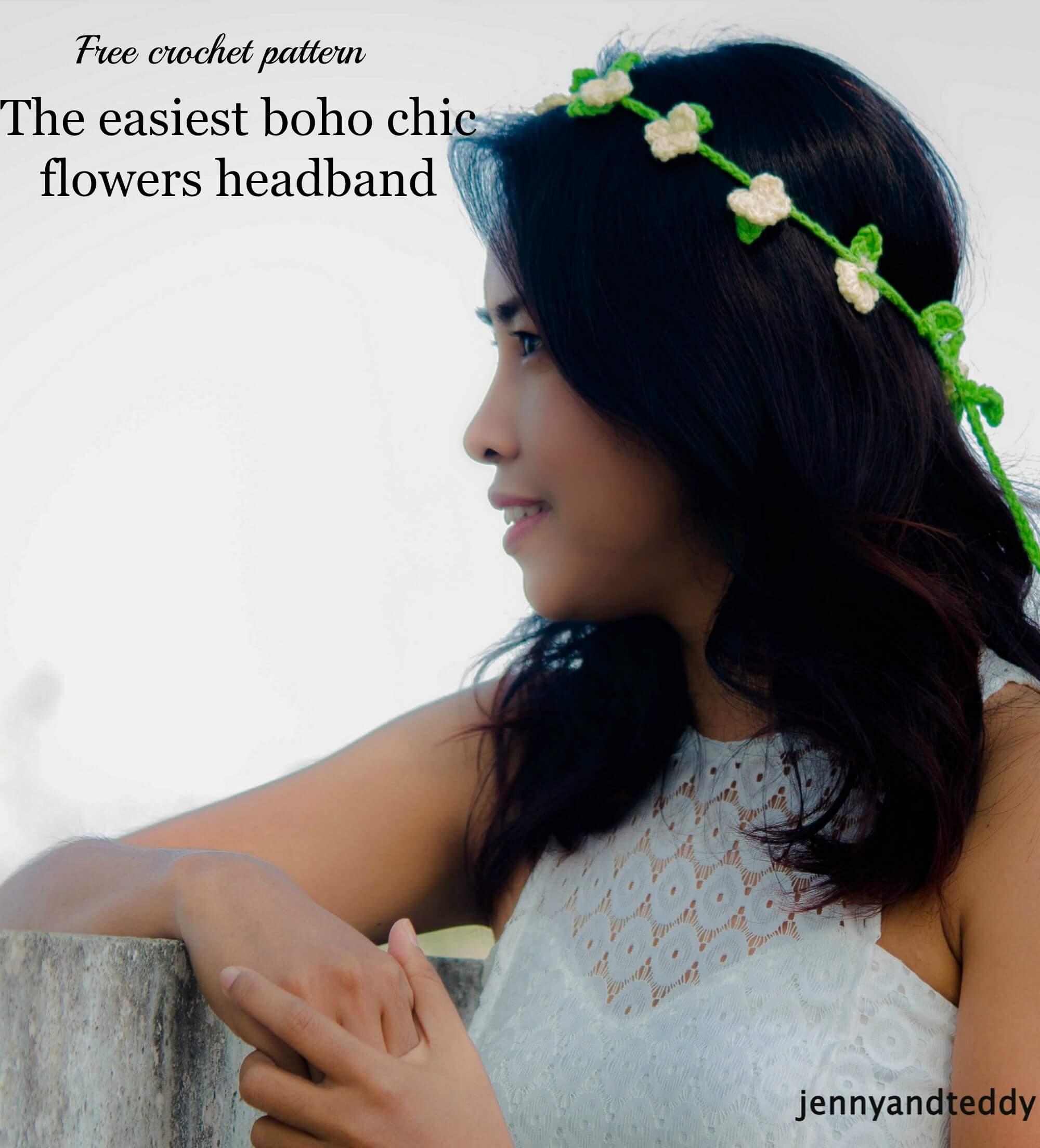 free crochet pattern the easiest boho chic flowers headband