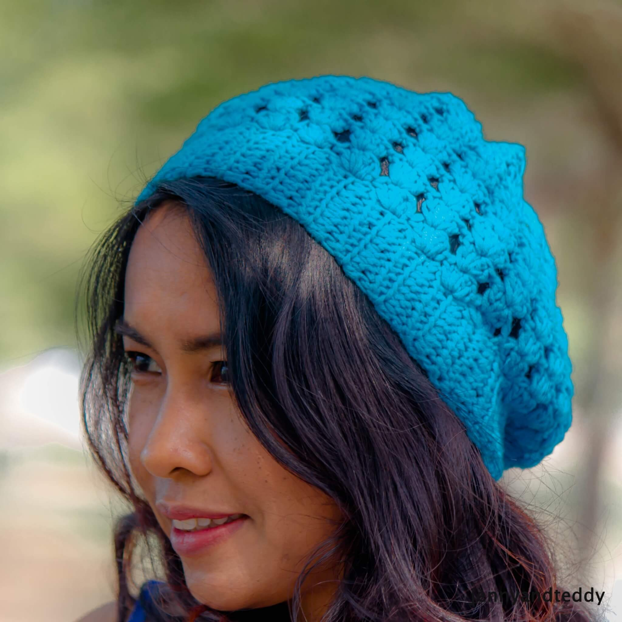 simply shell stitches crochet slouchy hat for beginner tutorial free pattern