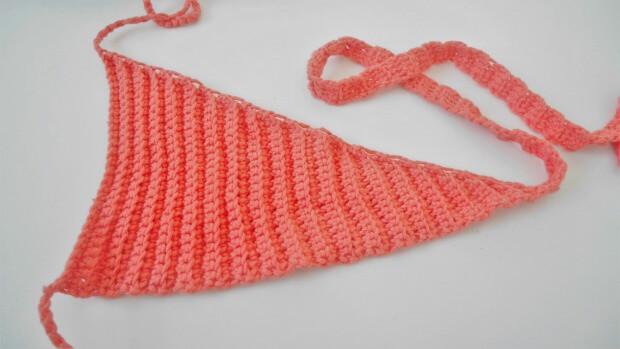 Reversible Wrap Around Bikini Top free crochet pattern tutorial for beginner